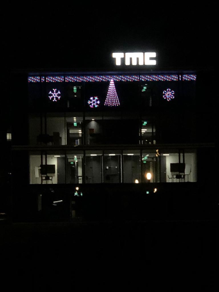 Sparkling Christmas Light Show At Tmc Building In Eindhoven Tmc